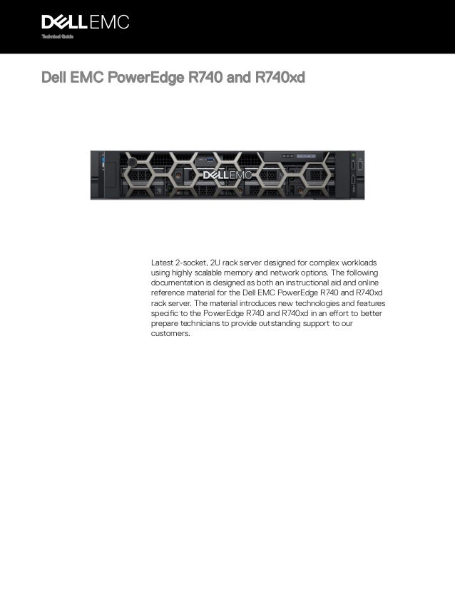 Dell EMC PowerEdge r740 r740xd technical guide
