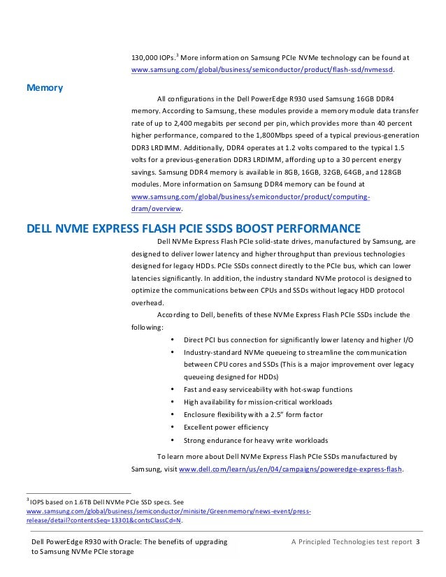 Dell PowerEdge R930 with Oracle: The benefits of upgrading to Samsung…