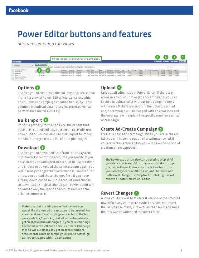 Power editor guide (quảng cáo Facebook)