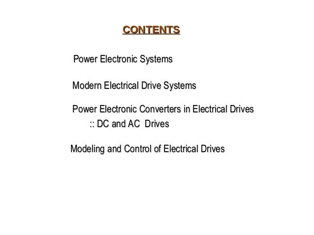 Power electronic drives ppt Slide 2