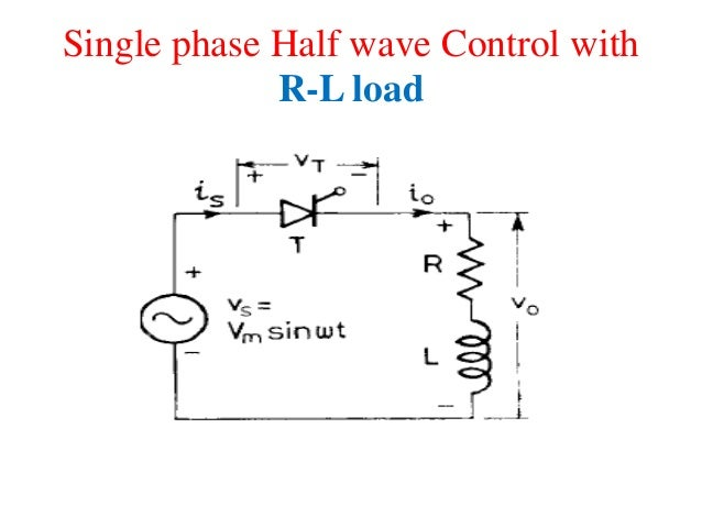 single phase uncontrolled half wave rec A single phase controlled rectifier in half wave configuration is explained using thyristor for rl and rle load the output voltage across the load will be anytime greater than or equal to e (volts.