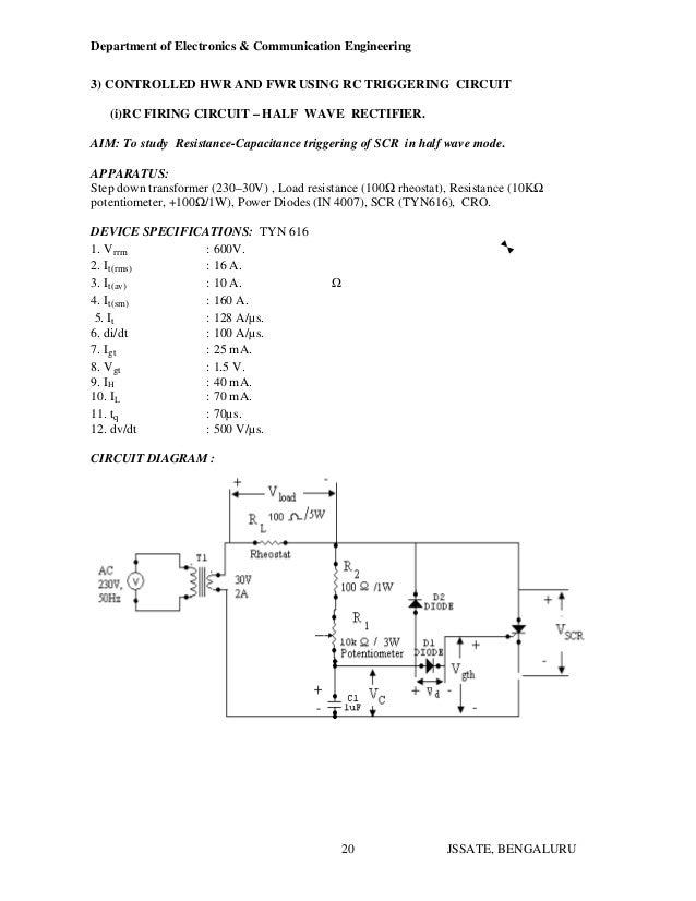 Electronics Device Circuit Lab manual Pdf