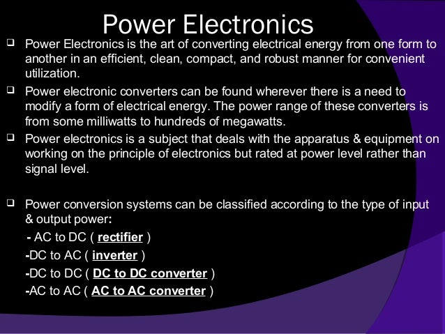 Power electronics & power electronic system