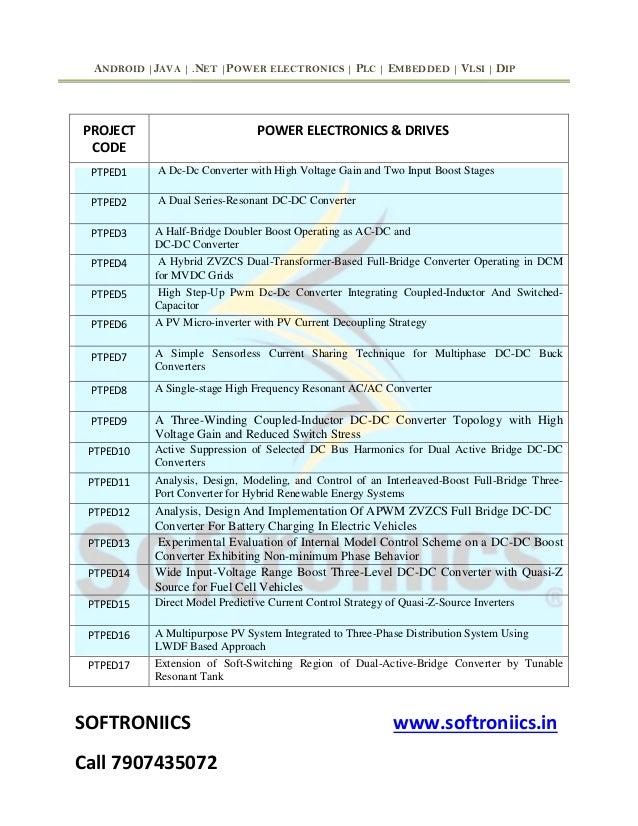 Power electronics topics list ieee 2017 2018