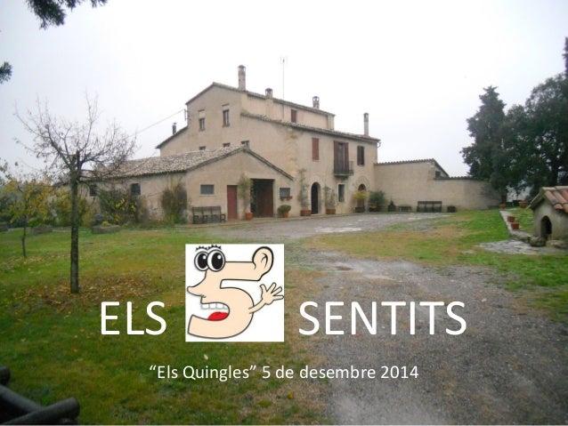 """ELS SENTITS  """"Els Quingles"""" 5 de desembre 2014"""