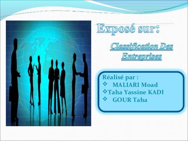 Réalisé par :  MALIARI Moad Taha Yassine KADI  GOUR Taha