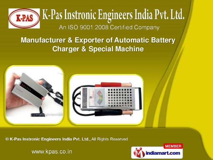 Manufacturer & Exporter of Automatic Battery        Charger & Special Machine