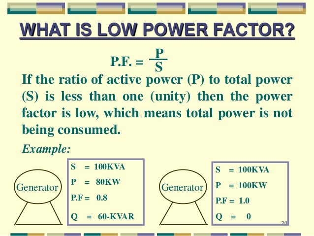 how to find power factor