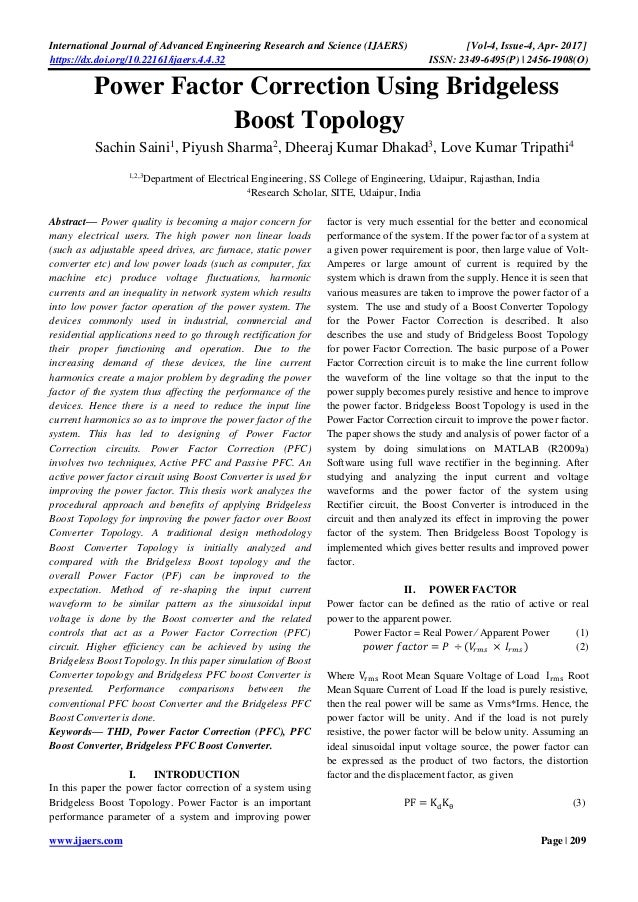 bridgeless power factor correction thesis