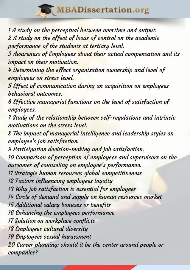 mba hrm thesis topics