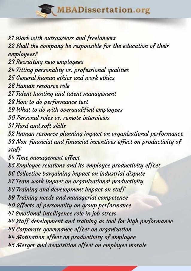 Dissertation human resource management