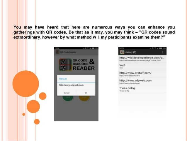 Powerful and Top QR Code Reader and Barcode Scanner App for Android Slide 2