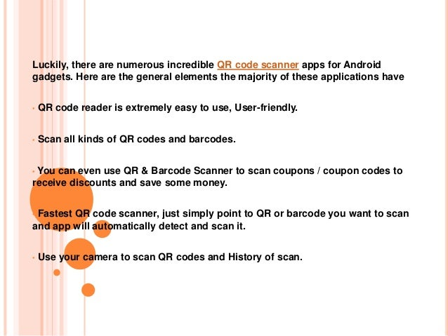Powerful and Top QR Code Reader and Barcode Scanner App for Android Slide 3