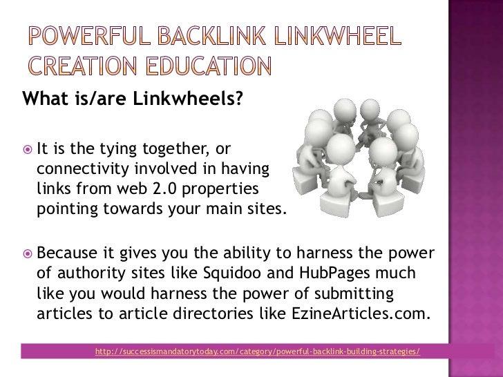 Powerful backlink linkwheel education Slide 2