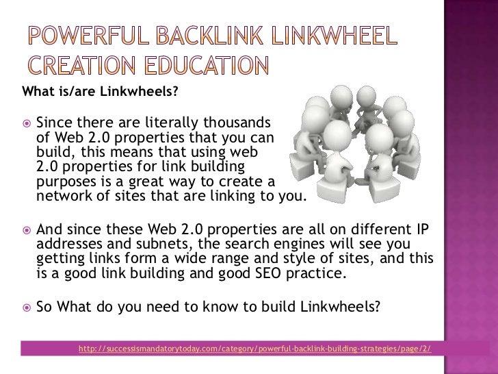 Powerful backlink linkwheel education Slide 3
