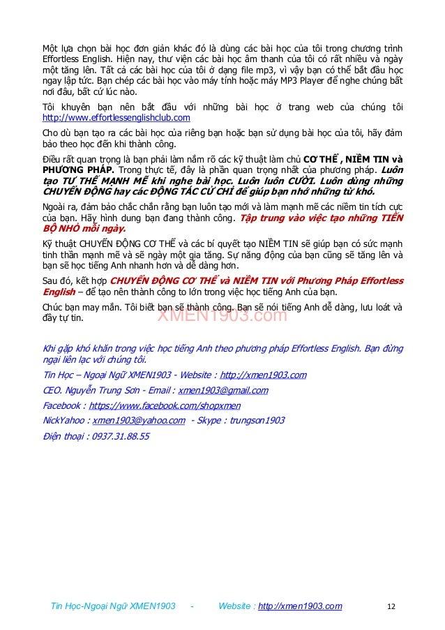 Tin Học-Ngoại Ngữ XMEN1903 - Website : http://xmen1903.com 12 Một lựa chọn bài học đơn giản khác đó là dùng các bài học củ...