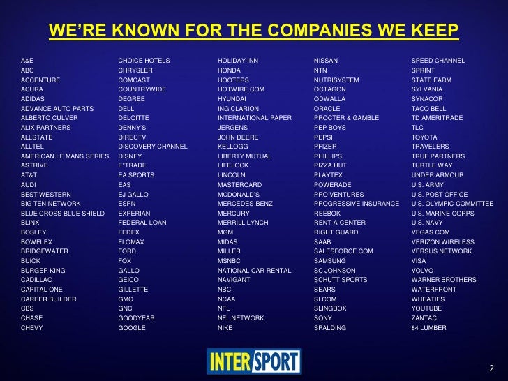 Intersport Media Assets