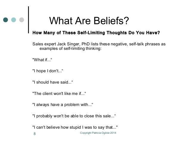 list of core beliefs pdf