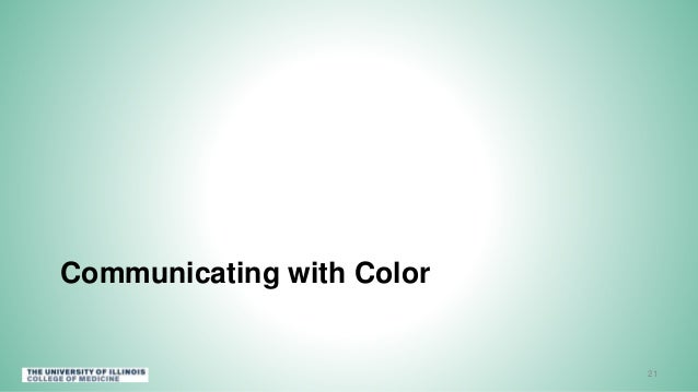 Communicating with Color 21