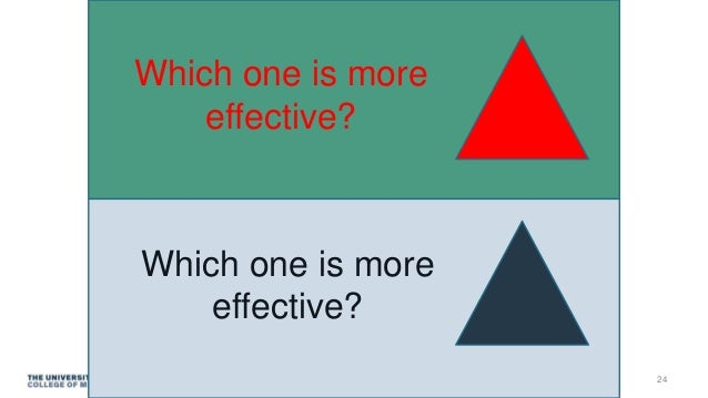 Which one is more effective? Which one is more effective? 24