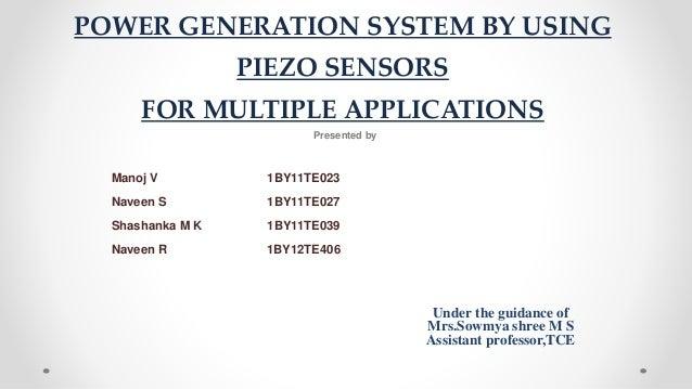 power generation by piezo sensorsElectrical Generator Using Piezo Electric Effect From Passing Traffic #5