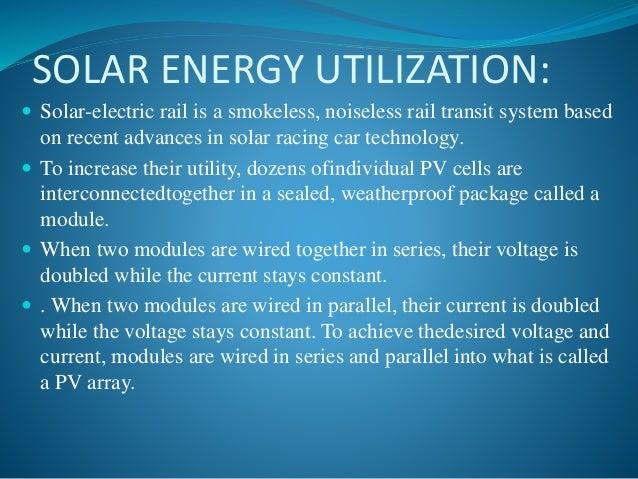 Power Generation Through Solar Trains