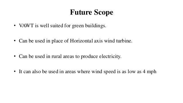 advantages of horizontal axis wind turbine pdf