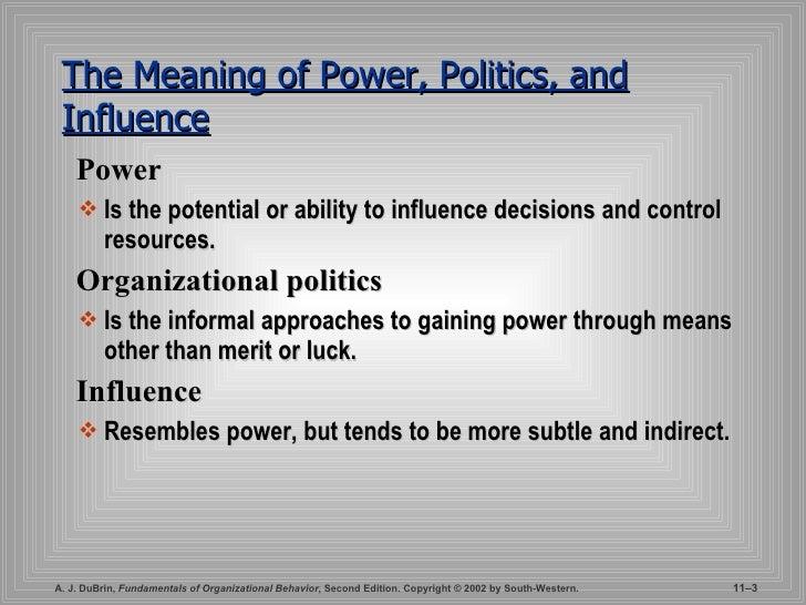 relationship between power and politics pdf