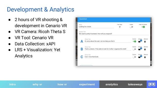 ● 2 hours of VR shooting & development in Cenario VR ● VR Camera: Ricoh Theta S ● VR Tool: Cenario VR ● Data Collection: x...