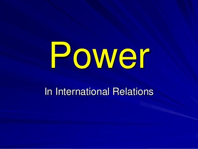 PowerIn International Relations