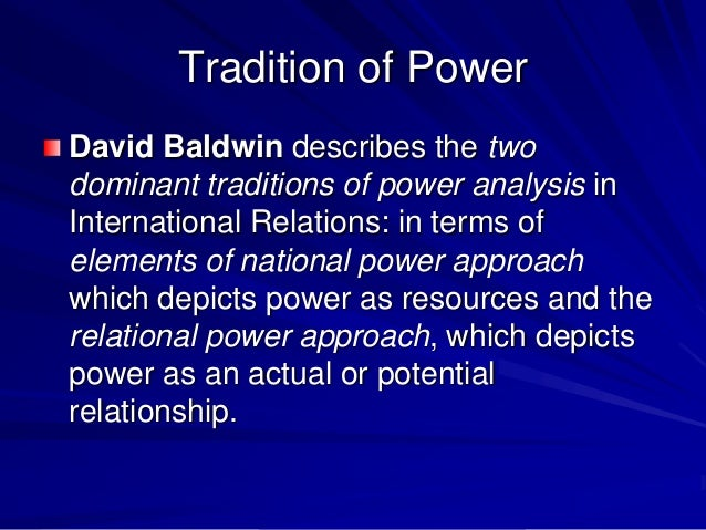 concept of national power in international relations