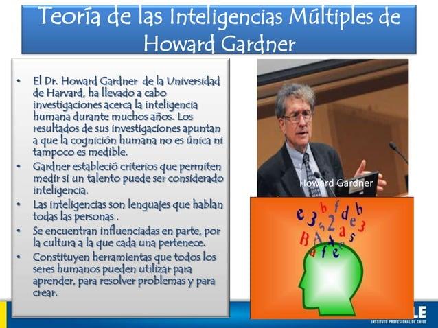 • El Dr. Howard Gardner de la Universidadde Harvard, ha llevado a caboinvestigaciones acerca la inteligenciahumana durante...