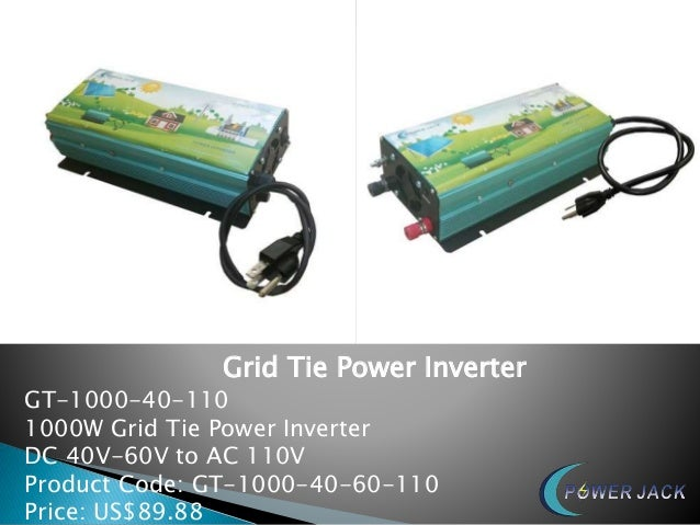 Grid Tie Power Inverter GT-1000-40-110 1000W Grid Tie Power Inverter DC 40V-60V to AC 110V Product Code: GT-1000-40-60-110...