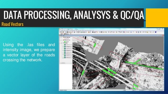 Road Vectors Using the .las files and intensity image, we prepare a vector layer of the roads crossing the network. DATA P...
