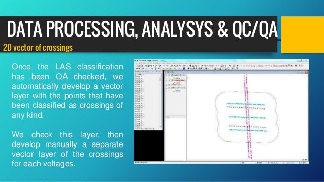 2D vector of crossings Once the LAS classification has been QA checked, we automatically develop a vector layer with the p...