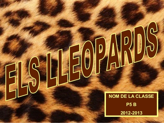 NOM DE LA CLASSEP5 B2012-2013