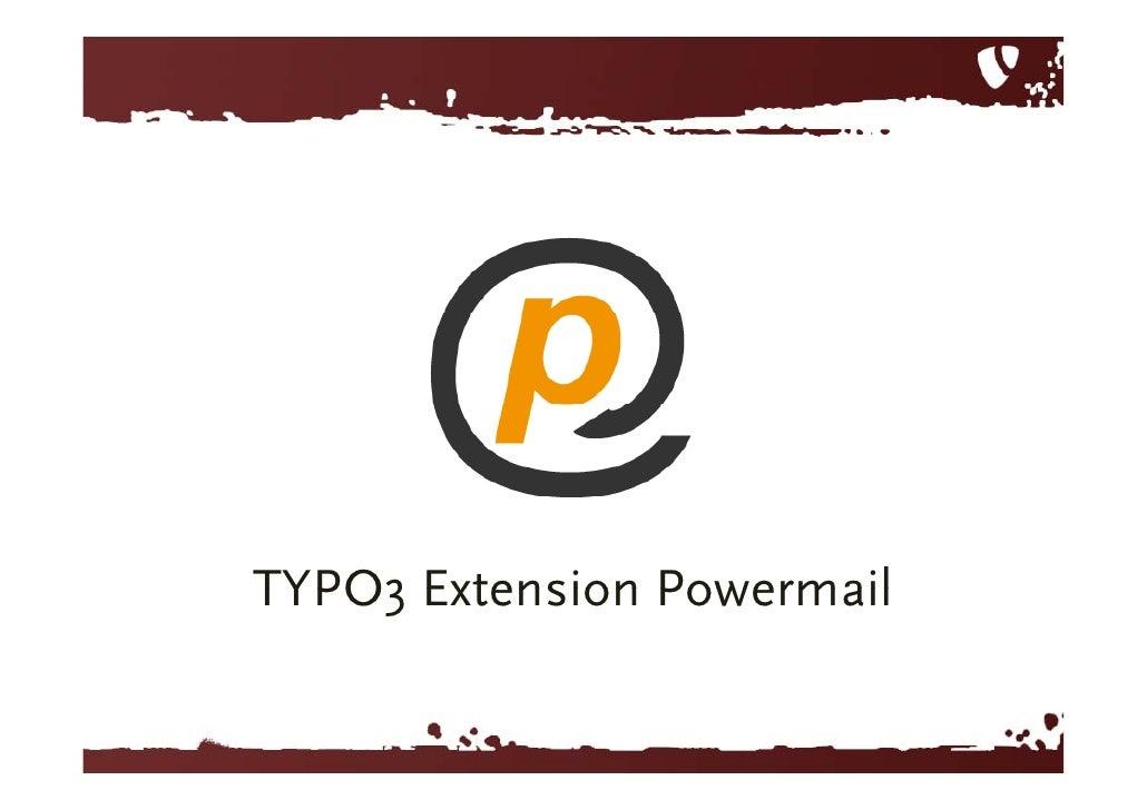 TYPO3      Extension powermail<br />
