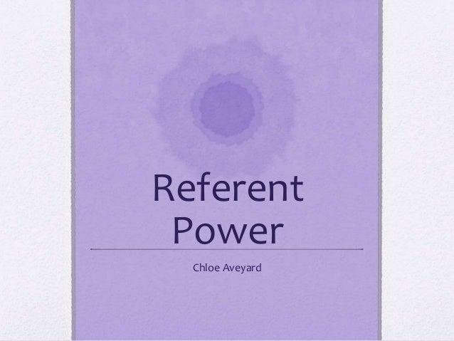 Referent Power Chloe Aveyard