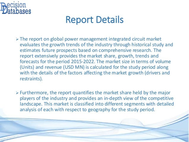research report on china integrated circuit Global radio frequency integrated circuit (rfic) market research report 2017 size and trends published in semiconductors on 2017-12-19 available for $2900.