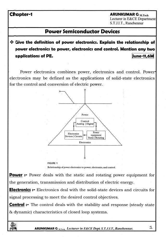 Power Electronics Notes written by Arun Kumar G, Associate