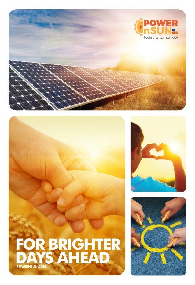 Brochure Of Powernsun Solar Energy Products Supplier