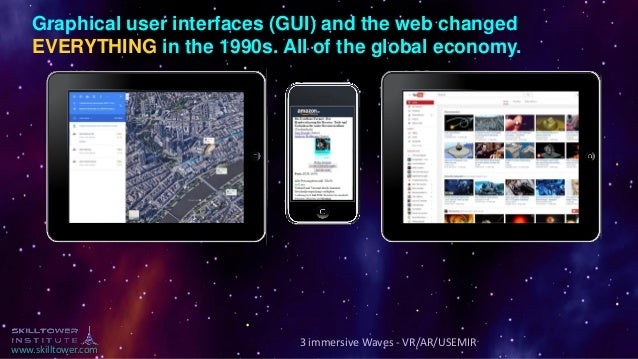 www.skilltower.com Graphical user interfaces (GUI) and the web changed EVERYTHING in the 1990s. All of the global economy....