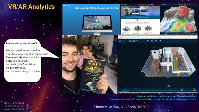 www.skilltower.com VR/AR Analytics Images: www.retinad.io , cognitivevr.co + own VR Analytics prototype 3 immersive Waves ...
