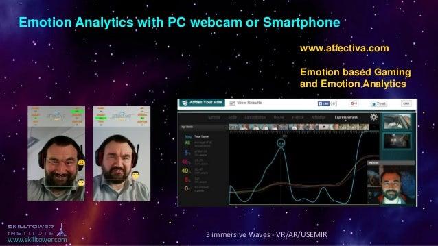www.skilltower.com www.affectiva.com Emotion based Gaming and Emotion Analytics Emotion Analytics with PC webcam or Smartp...