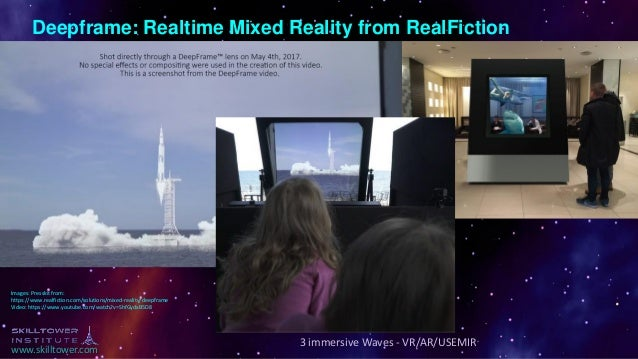 www.skilltower.com 3 immersive Waves - VR/AR/USEMIR Deepframe: Realtime Mixed Reality from RealFiction Images: Presskit fr...
