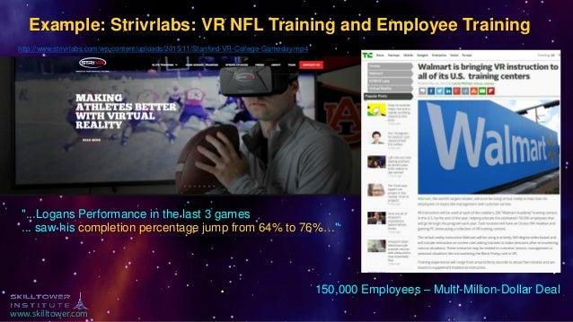 www.skilltower.com Example: Strivrlabs: VR NFL Training and Employee Training http://www.strivrlabs.com/wp-content/uploads...
