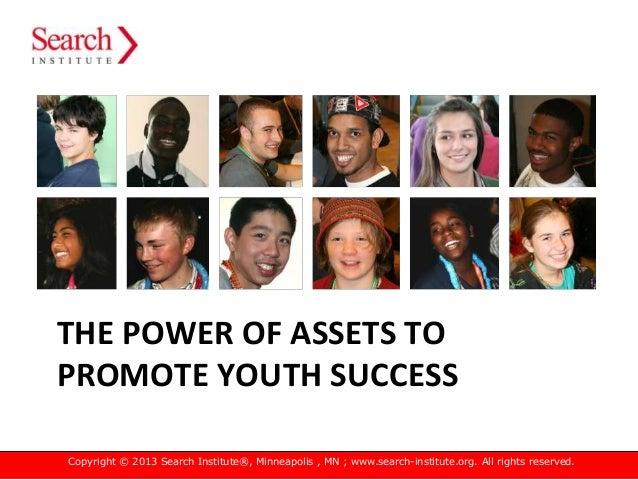 The Power of Developmental Assets Slide 3