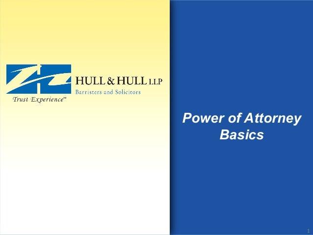Power of Attorney Basics 1