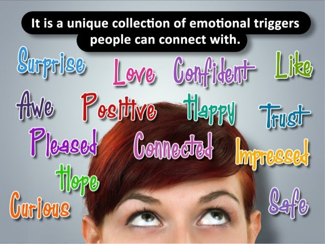 It is a unique collection of emotional triggers people can connect with.