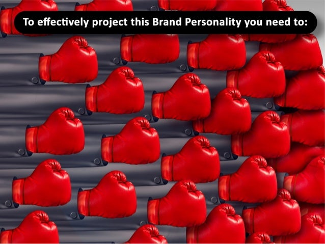 To effectively project this Brand Personality you need to: